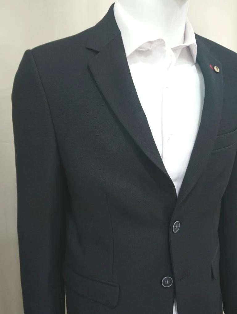 D-ZINE BLAZER BLACK SLIM FIT
