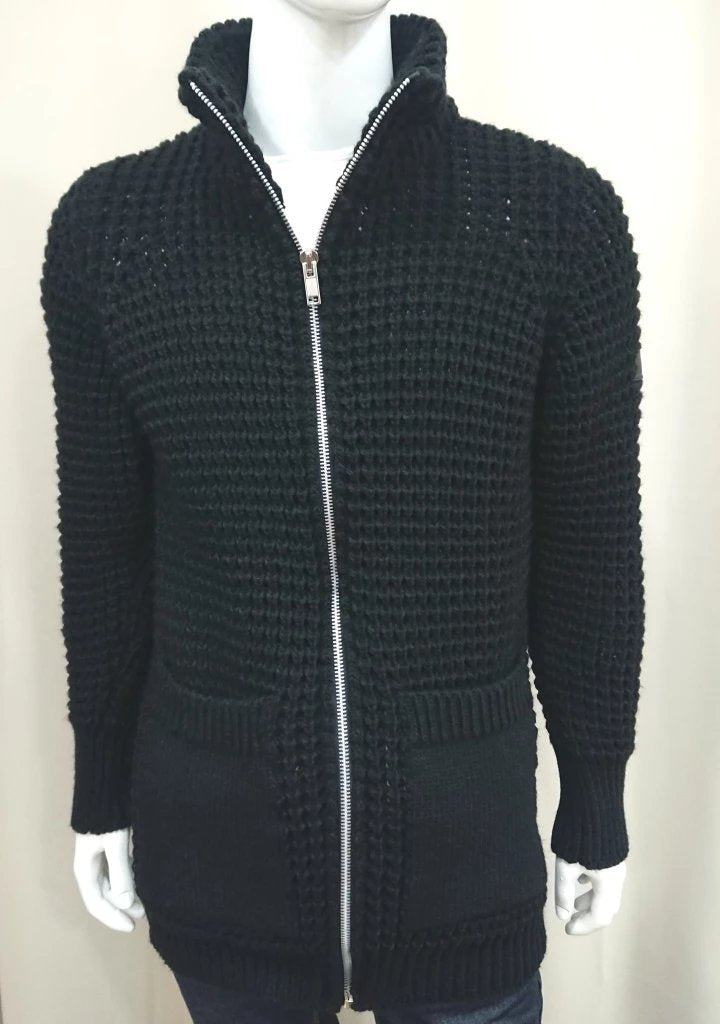 BELISIMO ZIP CARDIGAN BLACK