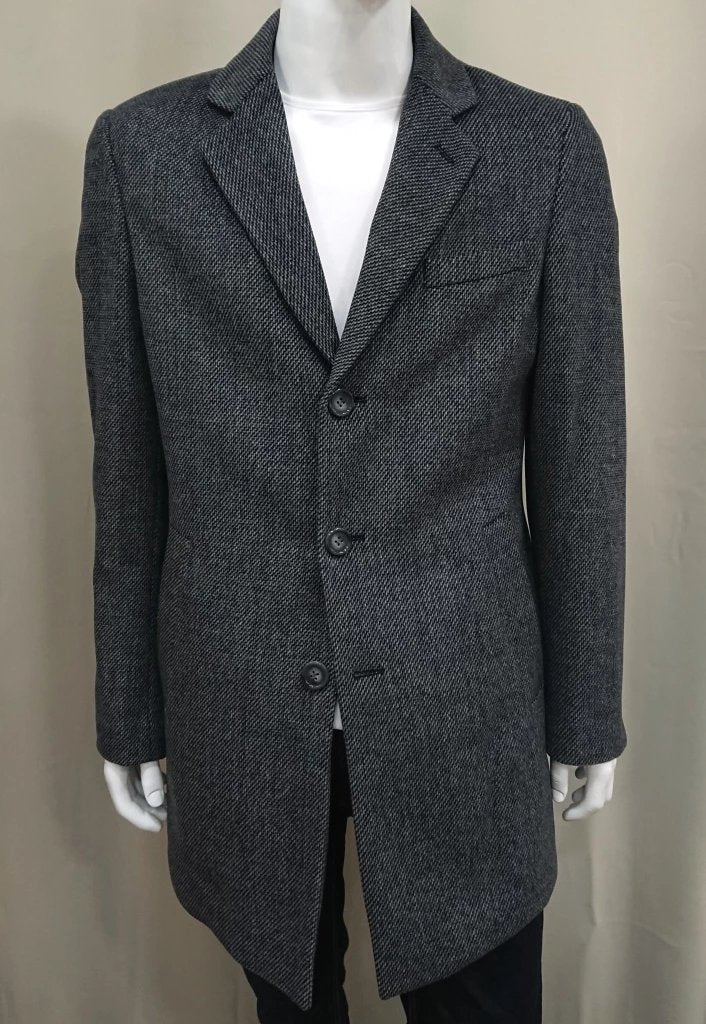 MASTER TAILOR DARK GREY WOOL COAT
