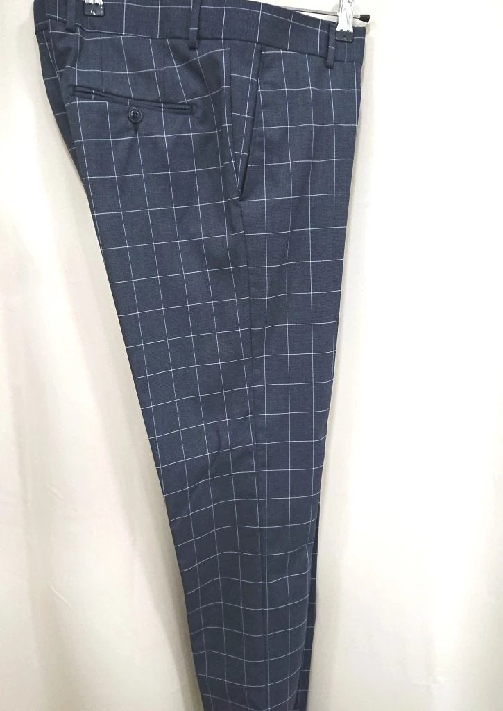 D-ZINE CHECKED SUIT SLIM FIT