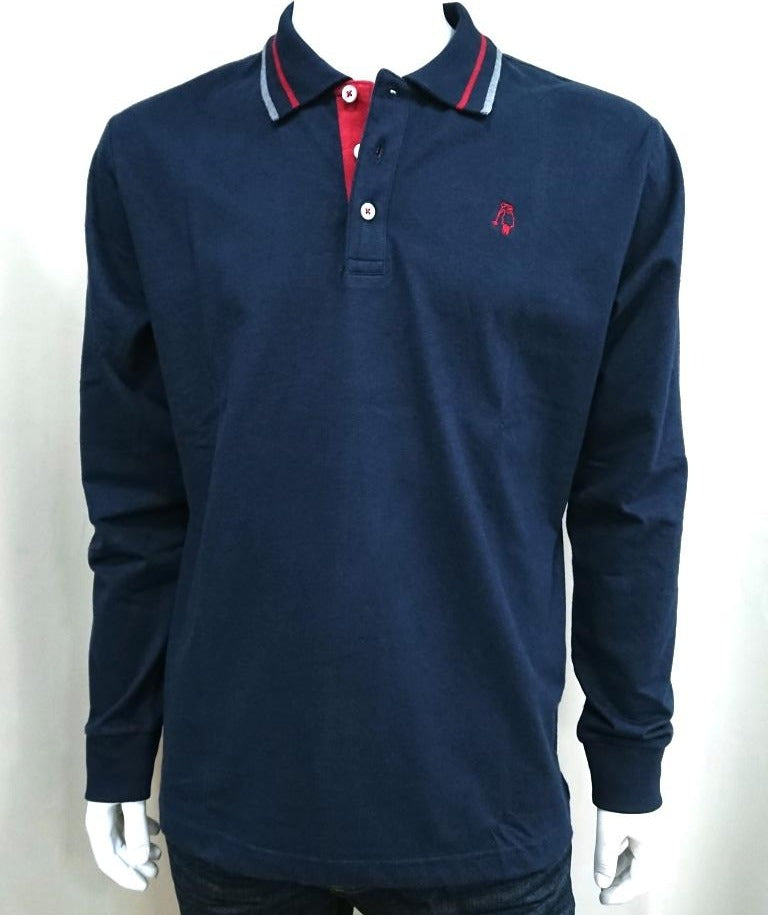 P.POLO CLUB COTTON POLO SHIRT