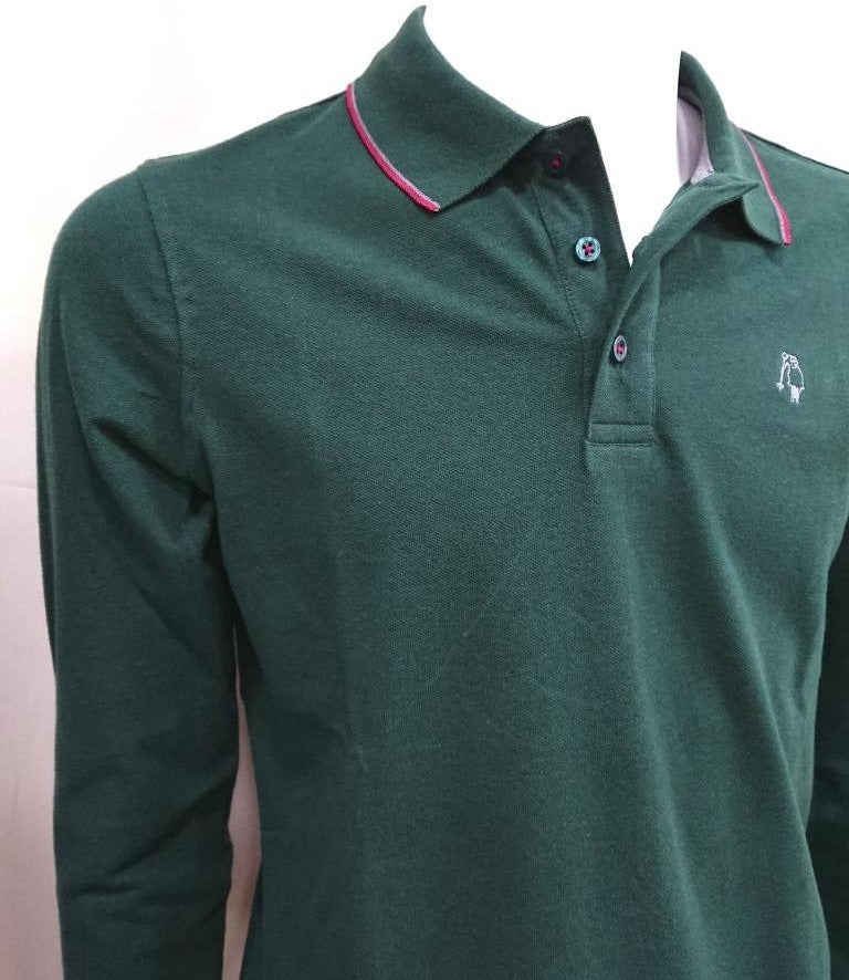 P.POLO CLUB PIQUE COTTON POLO SHIRT