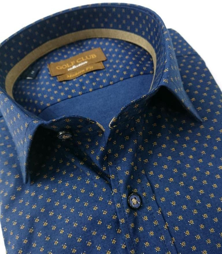 100% COTTON REGULAR FIT SHIRT WITH SCETCH