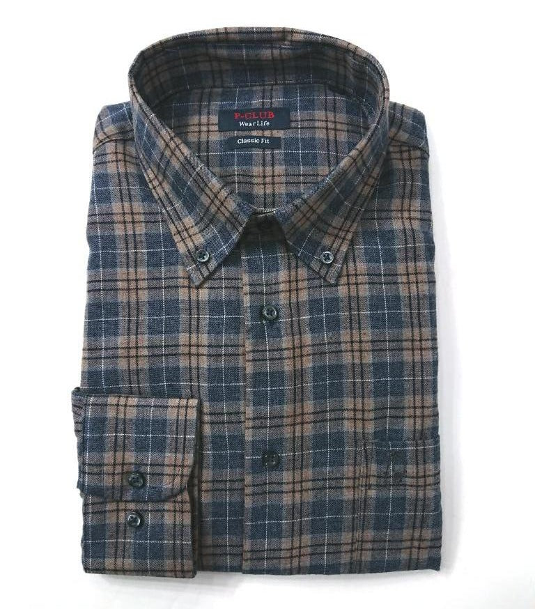 P.POLO CLUB CHECK SHIRT 100% COTTON
