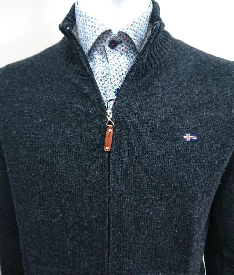 WOOL CARDIGAN CASUAL FIT