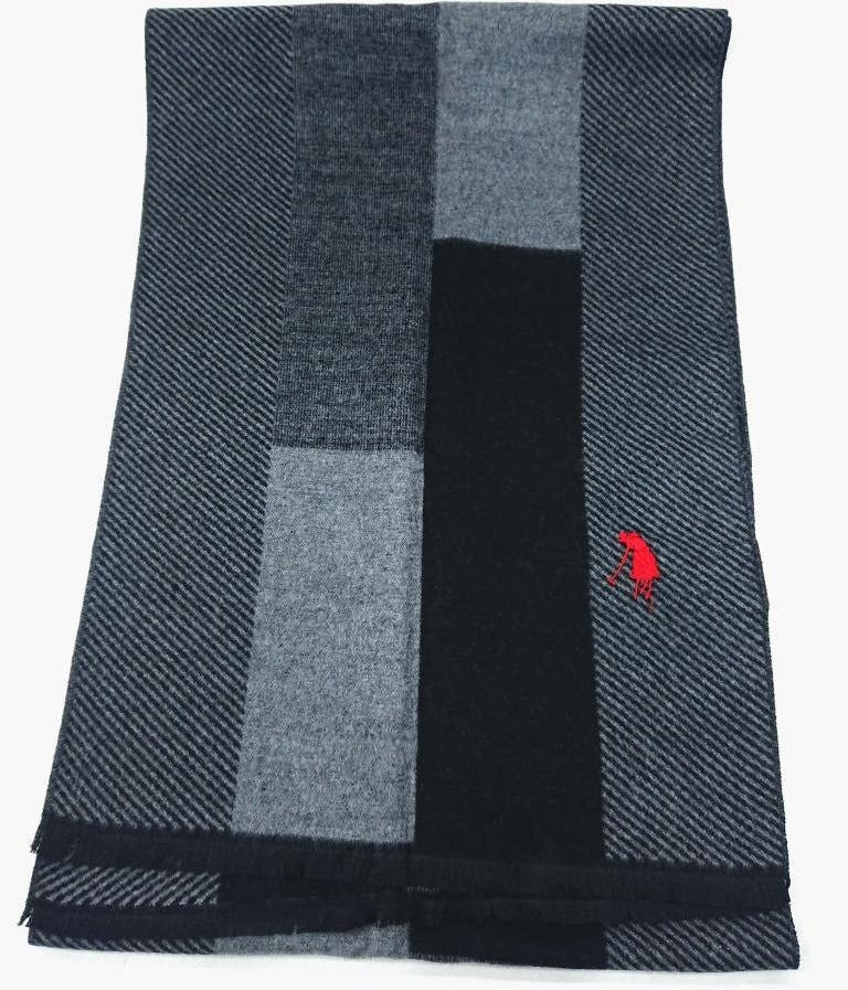 P.POLO CLUB SCARF TWO-TONE WOOL