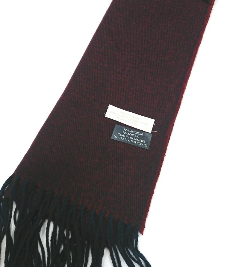 VERSACE 1969 WOOL CASHMERE CONTRAST SCARF
