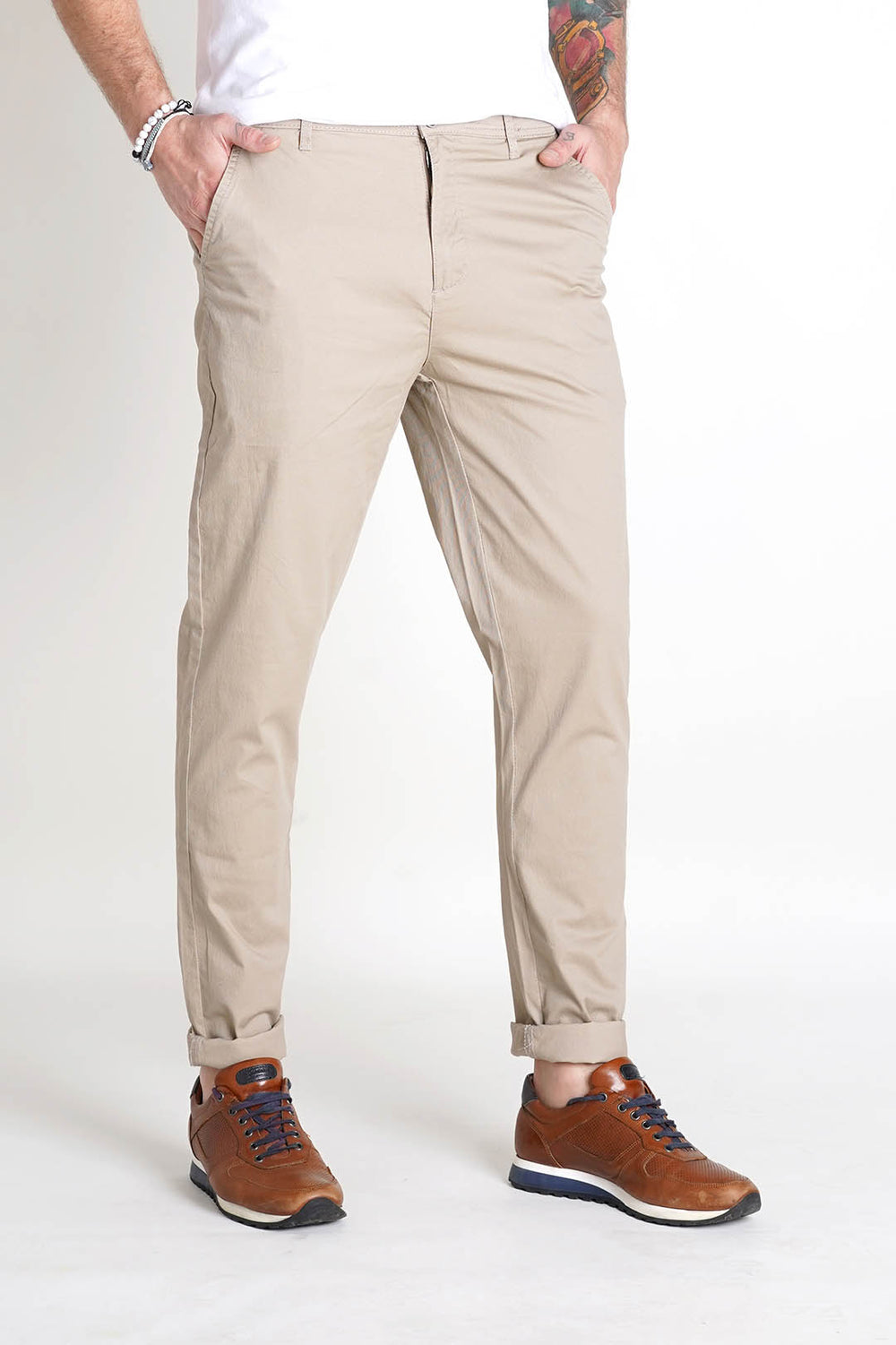FRANK TAILOR CHINOS TROUSER WITH SCETCH