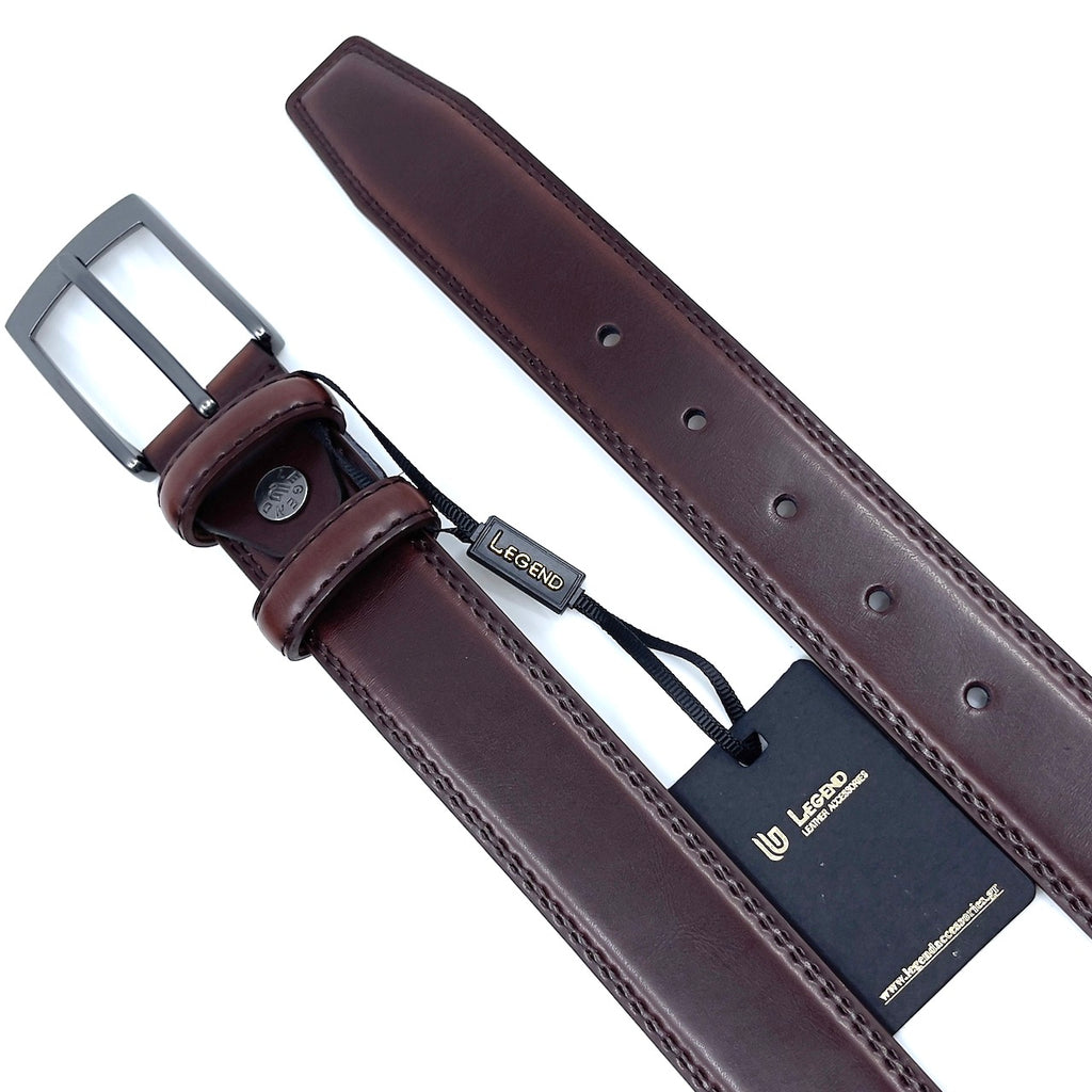 BROWN LEATHER BELT FORMAL STYLE