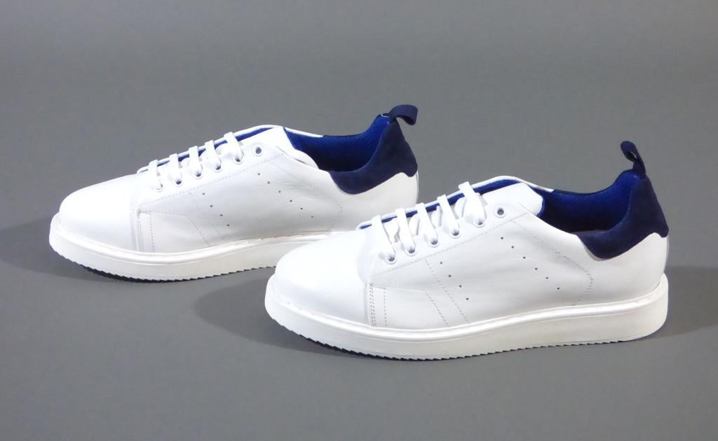 SCUDIERI WHITE LEATHER SNEAKER SHOES