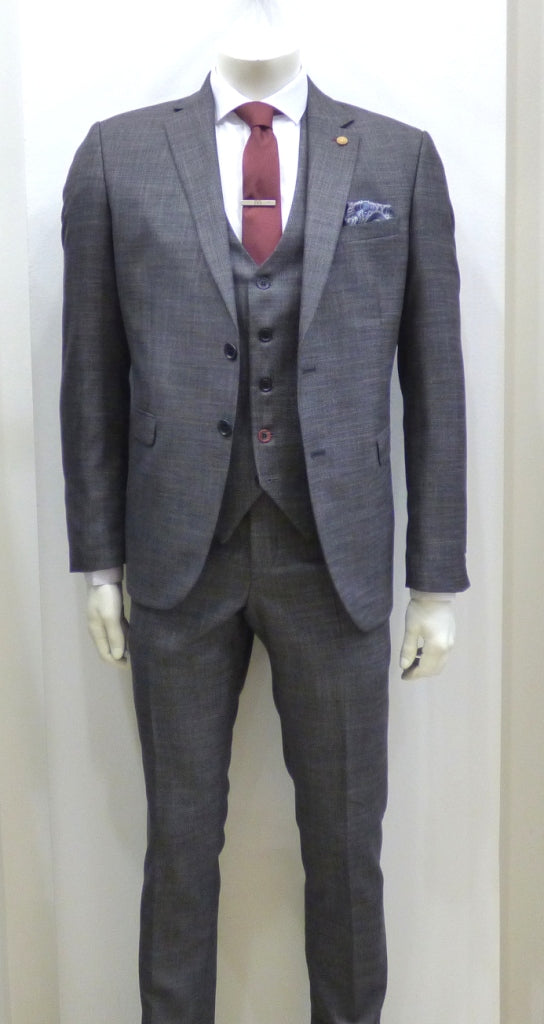 D-ZINE SUIT 3 PIECE GREY