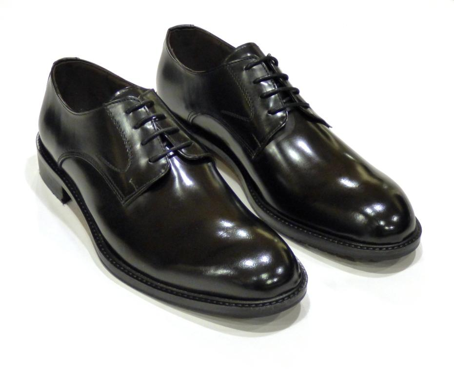 dress shoes black leather lace ups