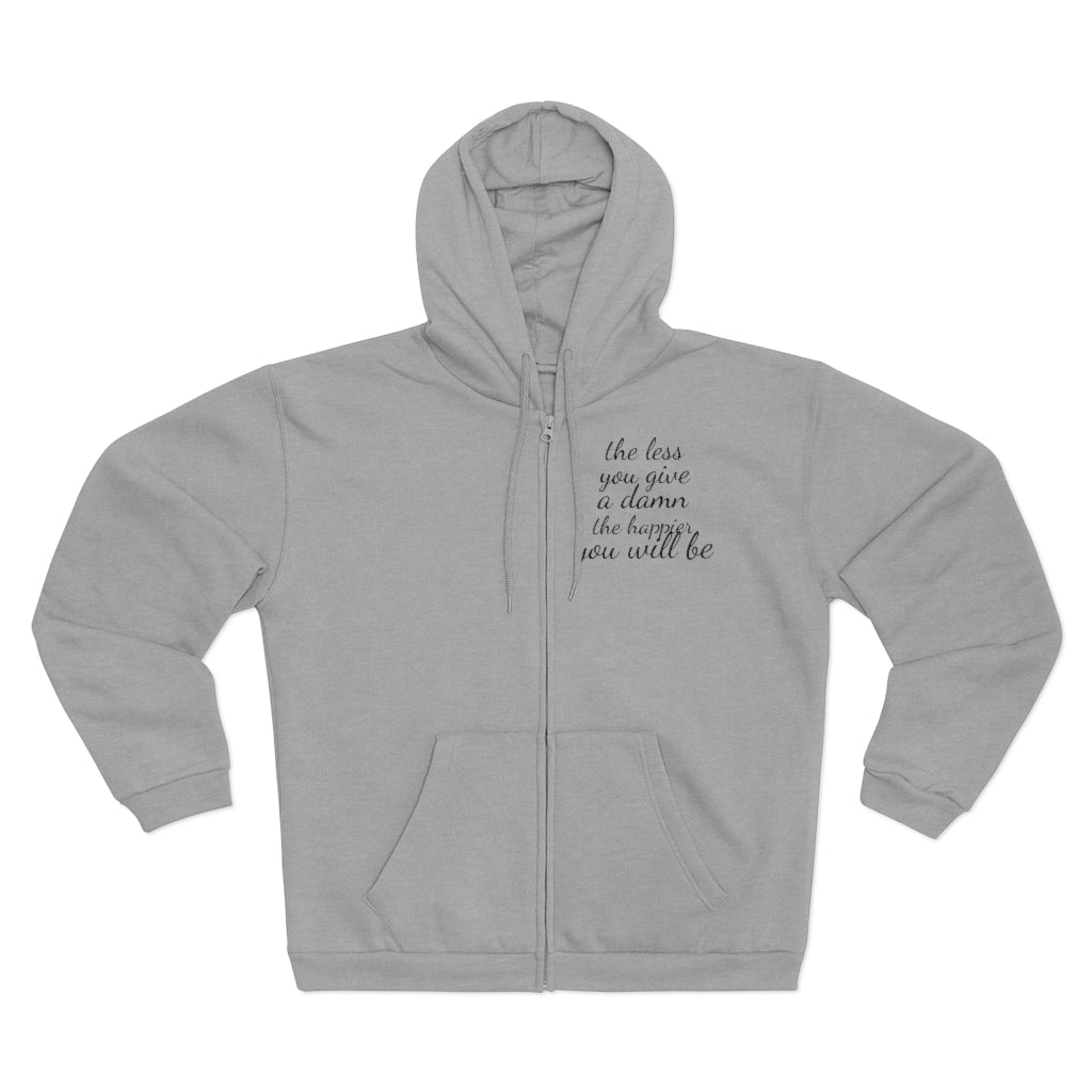 HOODED ZIP SWEATSHIRT
