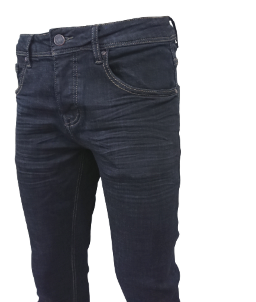 BLUE-BLACK SLIM FIT JEANS