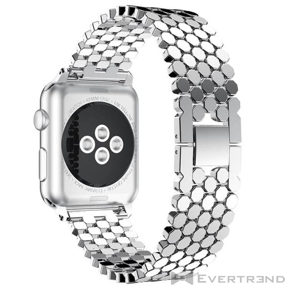 Bracelet Athena Argent-Apple Watch-Evertrend