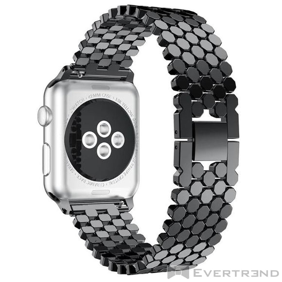 Bracelet Athena Noir-Apple Watch-Evertrend