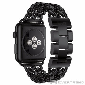 Bracelet Brooklyn Noir-Apple Watch-Evertrend