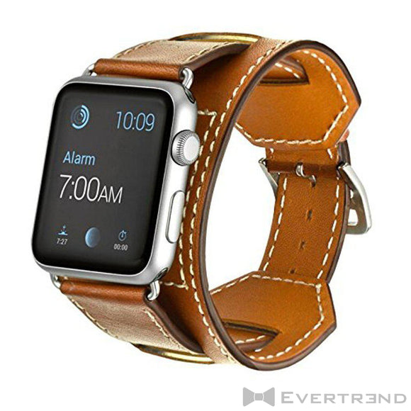 Bracelet Dublin Marron-Apple Watch-Evertrend