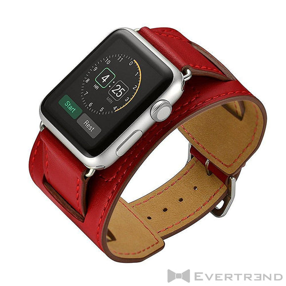 Bracelet Dublin Rouge-Apple Watch-Evertrend