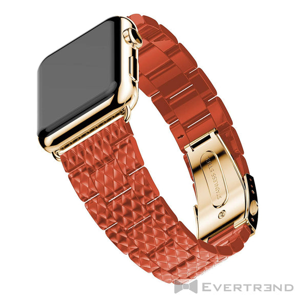 Bracelet Genève Orange-Apple Watch-Evertrend