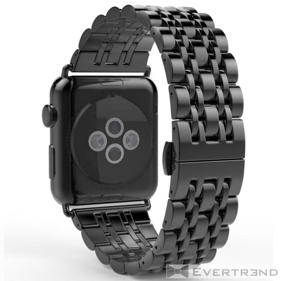 Bracelet London Noir-Apple Watch-Evertrend