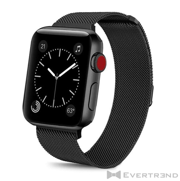 Bracelet Milanais Noir-Apple Watch-Evertrend