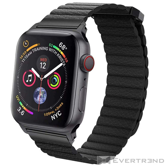 Bracelet Munich Noir-Apple Watch-Evertrend
