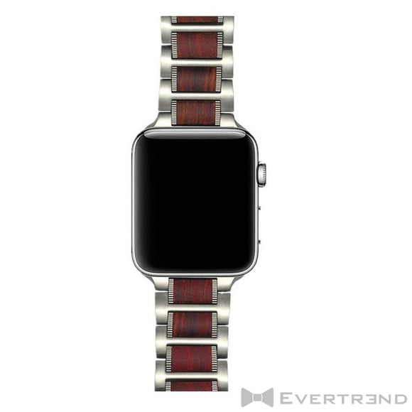Bracelet Bombay Argent Bois-Apple Watch-Evertrend