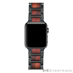 Bracelet Bombay Noir Bois-Apple Watch-Evertrend