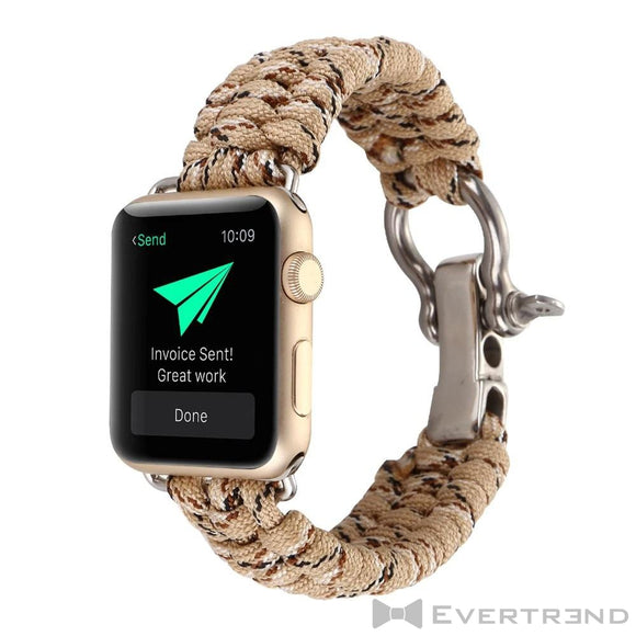 Bracelet Chamonix Camouflage Sable-Apple Watch-Evertrend