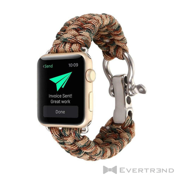 Bracelet Chamonix Camouflage Marron-Apple Watch-Evertrend
