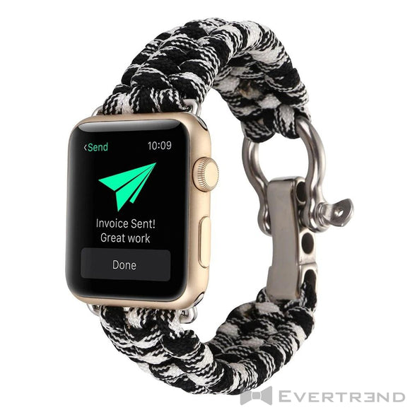 Bracelet Chamonix Camouflage Noir-Apple Watch-Evertrend