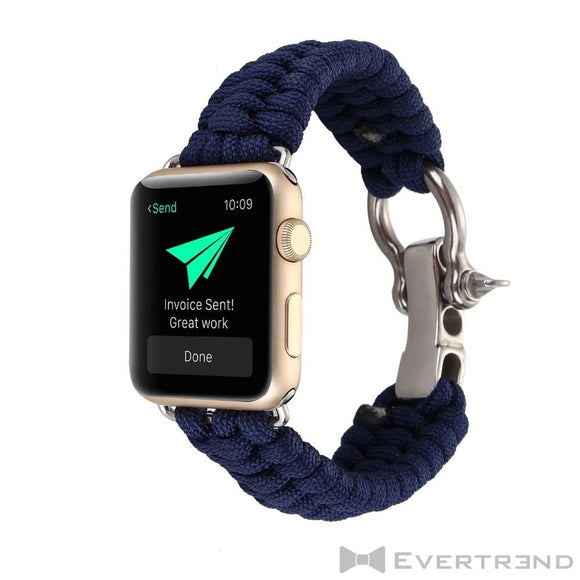 Bracelet Chamonix Bleu-Apple Watch-Evertrend