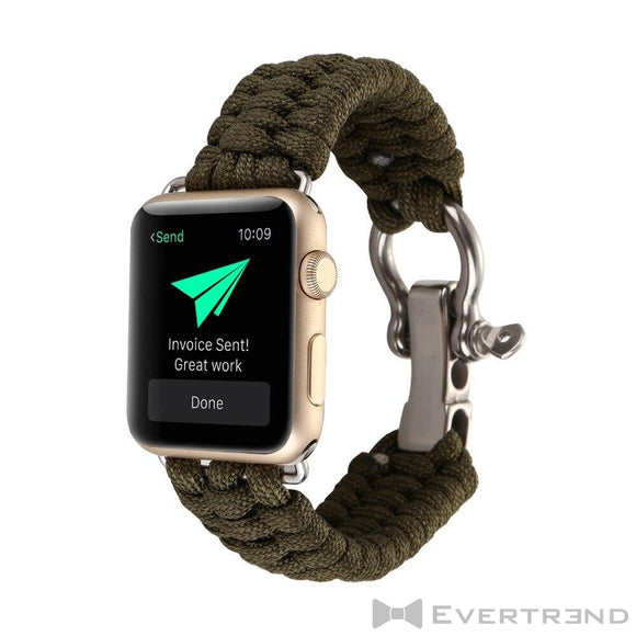 Bracelet Chamonix Kaki-Apple Watch-Evertrend