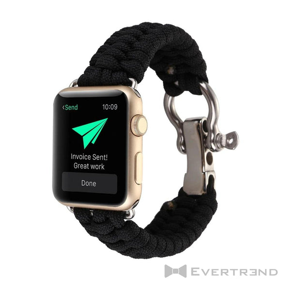 Bracelet Chamonix Noir-Apple Watch-Evertrend