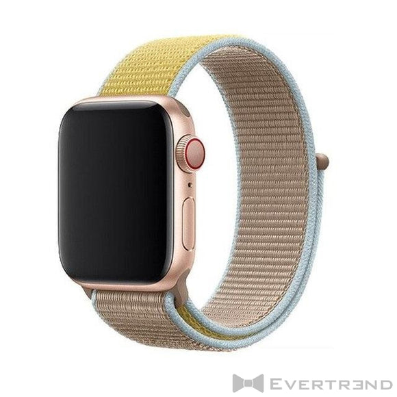 Bracelet Melbourne Bi-ton Jaune Taupe-Apple Watch-Evertrend