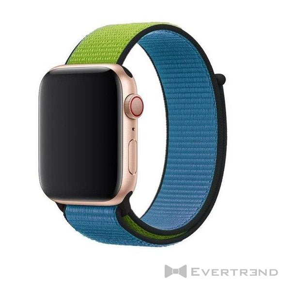 Bracelet Melbourne Bi-ton Bleu Vert-Apple Watch-Evertrend