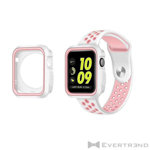 Coque de Protection Bumper Blanc Rose-Apple Watch-Evertrend