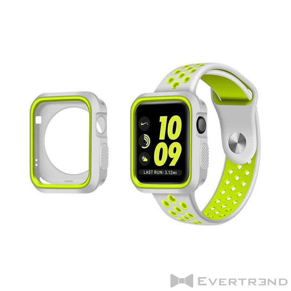 Coque de Protection Bumper Gris Jaune-Apple Watch-Evertrend