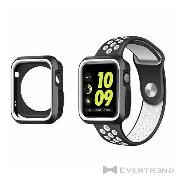 Coque de Protection Bumper Noir Blanc-Apple Watch-Evertrend