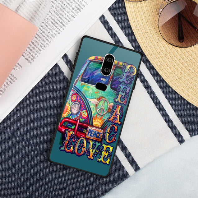 Hippie Sunflowers Bus Phone case for iPhone Samsung nah260512