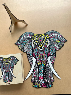 Animal Puzzle - Latin Elephant