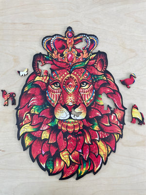 Animal Puzzle - Crown Lion