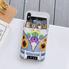 Hippie Sunflower Cat Bus Silicone Case for iPhone Samsung natr250506