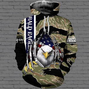 Bald eagle 3D All Over Printed Hoodie, T-Shirt, Sweater dad191203
