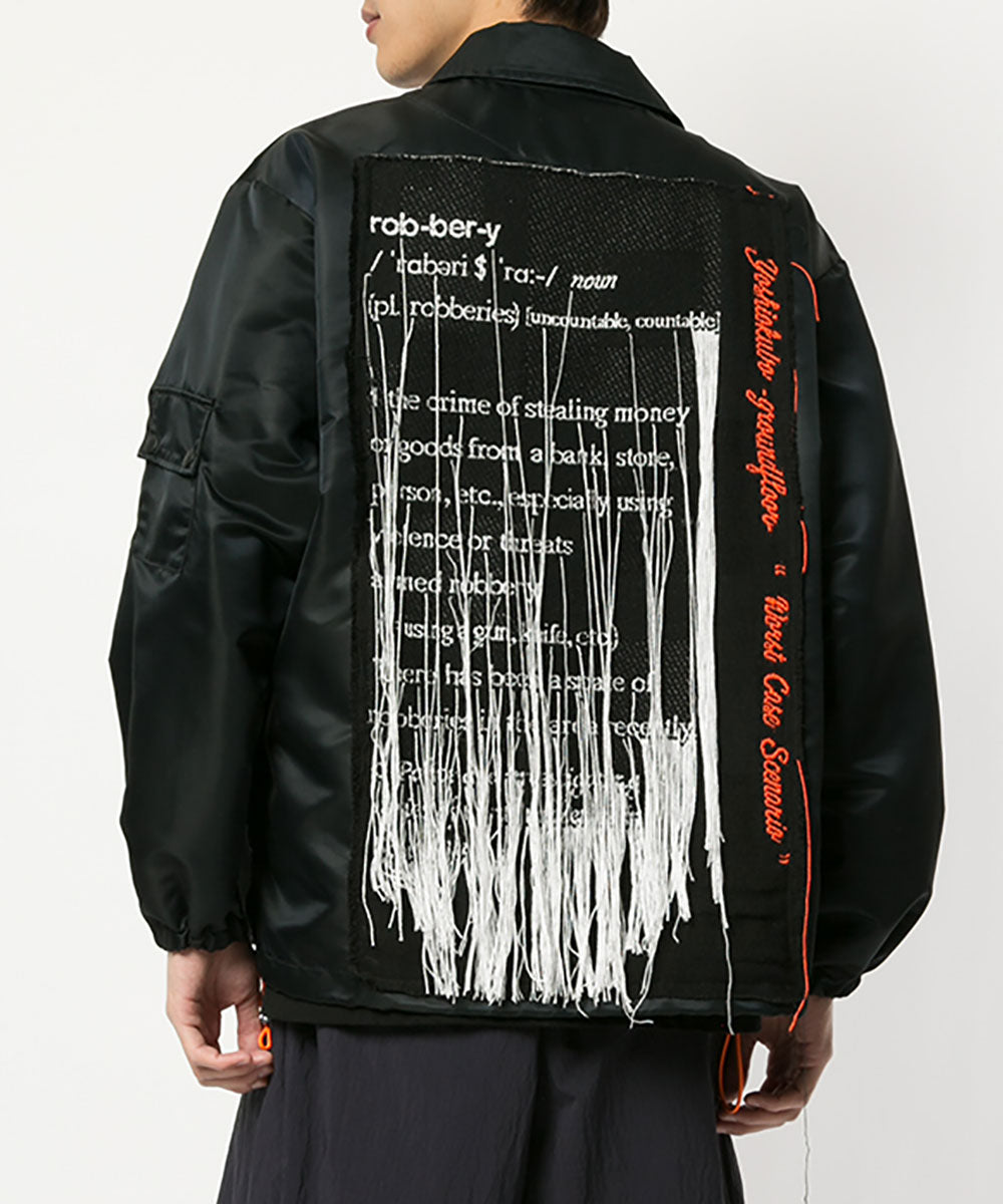 JACQUARD COACH JACKET