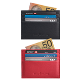 Jaycee Leather Card Holder-<br> Red