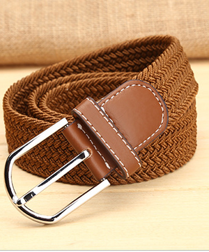 Elastic and Leather Belt - Assorted colours