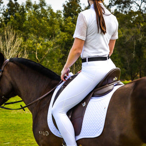 Mane Event Riding Tights Competition White