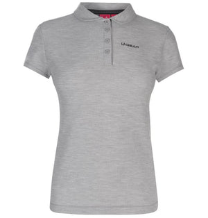 Polo Shirt - LA Gear - Light Grey